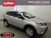 CARFAX 1-Owner, Toyota Certified, LOW MILES - 25,059!