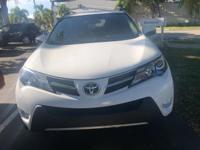 CARFAX One-Owner. Clean CARFAX. White 2015 Toyota RAV4