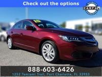 CARFAX One-Owner. Red 2016 Acura ILX 2.4L w/Premium