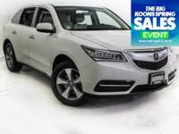2016 ACURA MDX 3.5L IN WHITE, ALL WHEEL DRIVE, THIRD