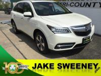 Wonderful in White, our One Owner 2016 Acura MDX SH AWD