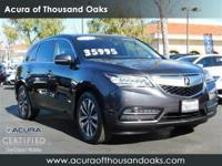 Gray 2016 Acura MDX 3.5L w/Technology Package AWD