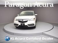New Price! Certified. 2016 Acura MDX 3.5L CARFAX