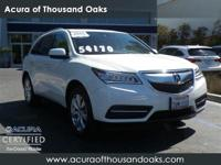 Options:  2016 Acura Mdx W/Advance|White Diamond