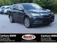 1 Owner, Clean Carfax! This 2016 Acura MDX is Gray with
