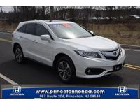 CARFAX One-Owner. Clean CARFAX. White 2016 Acura RDX