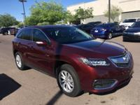 Certified. AWD.  2016 Acura RDX 27/19 Highway/City