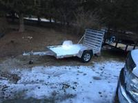 "Aluma trailer 63"" wide by 8' long, all aluminum,"