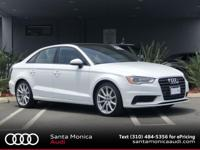 Certified. 2015 Audi A3 1.8T Premium Ibis White with