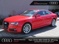 A5 2.0T Premium Plus quattro, Audi Certified, 2D Coupe,