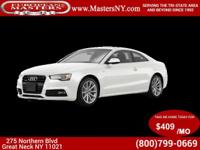 This Lovely White 2016 Audi A5 2.0T Premium Plus