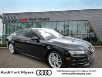 CARFAX One-Owner. Clean CARFAX. Black 2016 Audi A7 3.0