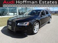 This Audi A8 L has a strong Twin Turbo Premium Unleaded