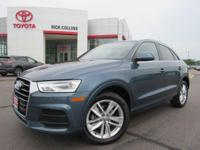 This 2016 Audi Q3 comes equipped with power seats with