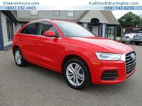 PREMIUM KEY FEATURES ON THIS 2016 Audi Q3 include, but