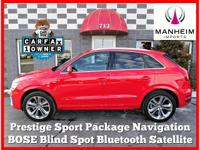 Prestige, Bose Audio, Sport Package! 2016 Audi Q3