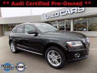2016 Audi Q5 2.0T Premium Plus! ** ACCIDENT FREE CARFAX
