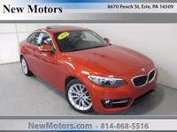 New Motors is excited to offer this 2016 BMW 2 Series.
