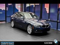 EPA 34 MPG Hwy/23 MPG City! BMW Certified, LOW MILES -