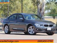 2016 BMW 3 Series. 328i, 4D Sedan, Mineral Gray