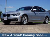 2016 BMW 3 Series 328i in Glacier Silver Metallic, This