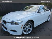 328i xDrive trim, Alpine White exterior and Coral Red