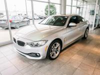Clean CARFAX. Glacier Silver Metallic 2016 BMW 4 Series