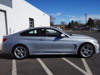 428I XDRIVE COUPE IN GLACIER SILVER! All Wheel Drive!