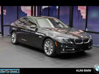 FUEL EFFICIENT 34 MPG Hwy/23 MPG City! 528i trim. BMW