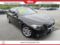 2016 BMW 5 Series 528i xDrive in Black. AWD. 34/22