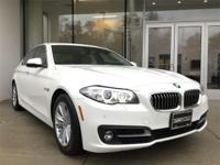 Low mileage 2016 BMW 528i xDrive in Alpine White. Cold