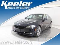 Certified. CARFAX One-Owner. 2016 BMW 5 Series ***BLUE