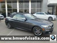M235i trim. CARFAX 1-Owner, BMW Certified. REDUCED FROM