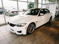 Certified. Clean CARFAX. Alpine White 2016 BMW M3 Base