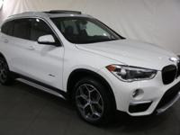2016 BMW X1 Alpine White AWD  CARFAX One-Owner.
