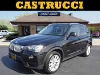 CARFAX One-Owner. Clean CARFAX.  Black 2016 BMW X3