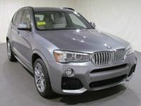 2016 BMW X3 xDrive35i  in Space Gray Metallic. Cold