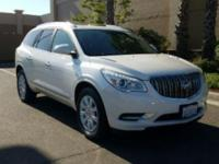 Certified. Summit White 2016 Buick Enclave Leather