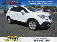 Certified. This 2016 Buick Encore in Summit White is