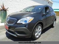 Clean CARFAX. Black 2016 Buick Encore FWD 6-Speed