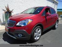 Clean CARFAX. Red 2016 Buick Encore Premium FWD 6-Speed