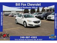 New Price! 2016 Buick Certified. Regal White Frost