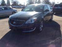 Black 2016 Buick Regal Premium II FWD 6-Speed Automatic