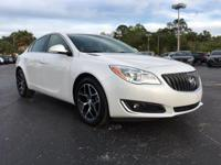 Certified. White 2016 Buick Regal Turbo FWD 6-Speed