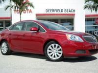 CARFAX One-Owner. Clean CARFAX. Red 2016 Buick Verano