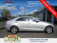 This 2016 Cadillac ATS 2.0L Turbo Luxury in Silver is