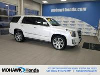 This 2016 Cadillac Escalade Premium in Crystal White