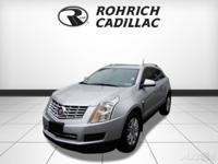 2016 Certified. Cadillac SRX Radiant Silver New Price!