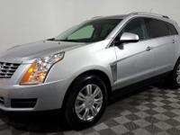 Certified. This 2016 Cadillac SRX in Radiant Silver