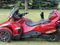 Up for sale is my immaculate 2016 can-am spyder RT SE6